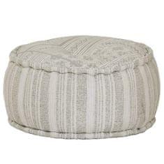 Okrągły puf bawełniany ze wzorem, 50 x 25 cm, zielony