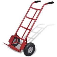 shumee Červený a černý kovový skládací vozík