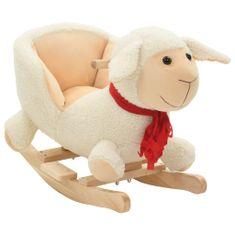 shumee Houpací zvířátko ovečka s opěradlem plyš 60 x 32 x 50 cm bílé