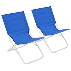 shumee Skladacie plážové stoličky 2 ks modré