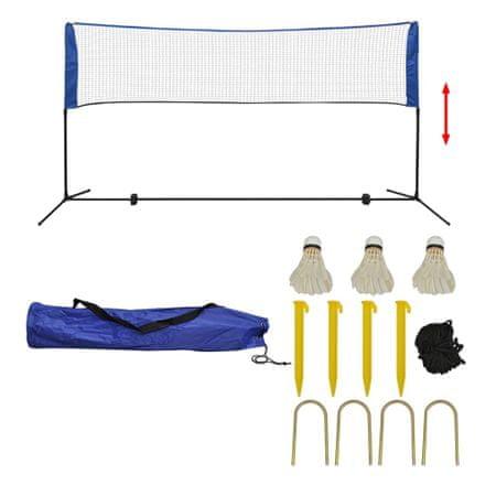 shumee Komplet mreže za badminton s perjanicami 300x155 cm