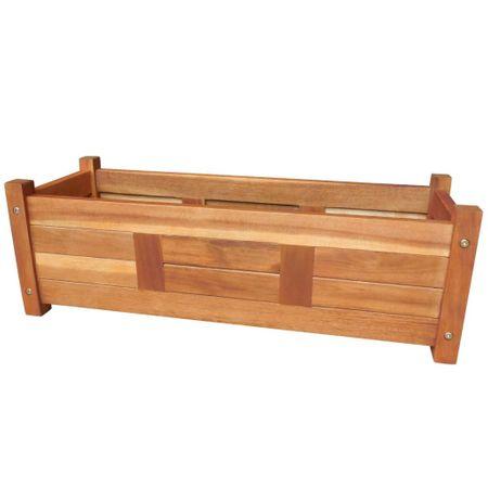 Donica ogrodowa, drewno akacjowe, 76x27,6x25 cm