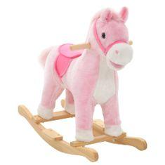 shumee Houpací plyšový kůň 65 x 32 x 58 cm růžový