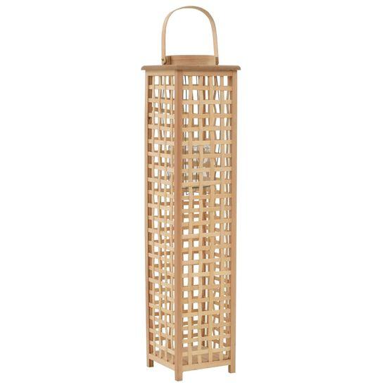 Závesný svietnik bambusový prírodný