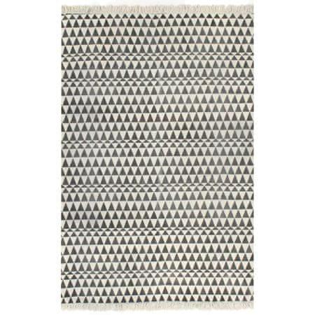 shumee Dywan typu kilim, bawełna, 160 x 230 cm, czarno-biały ze wzorem