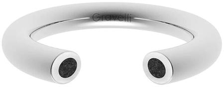 Gravelli Otwarty pierścień z betonem Otwarta stal / antracyt GJRWSSA107 (obwód 53 mm)