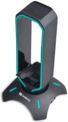 Sandberg USB 3.0 Hub Bungee Stand, 3 × USB 3.0 + 1 × microUSB 133-93
