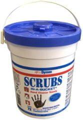 Kleinmann SCRUBS 72 vlhčené ubrousky pro čištění rukou, kyblík 72ks