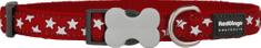 RED DINGO Nylonový obojek Red dingo s hvězdičkama červený