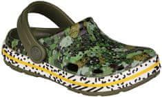 Coqui Dětská obuv LINDO 6423 Army green camo 6423-203-2600