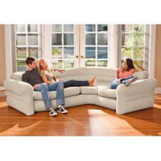 Intex Nafukovací rohový gauč/pohovka 257x203x76 cm, 68575NP