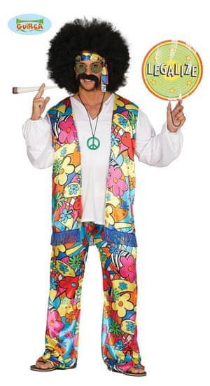 Kostým hippies - Hipísák pre pánov z 60. rokov vel. M (48-50)