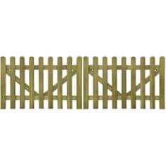 shumee Brama do płotu, 2 elementy, impregnowane drewno, 300x100 cm