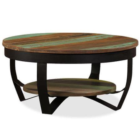 shumee tömör újrahasznosított fa dohányzóasztal 65 x 32 cm