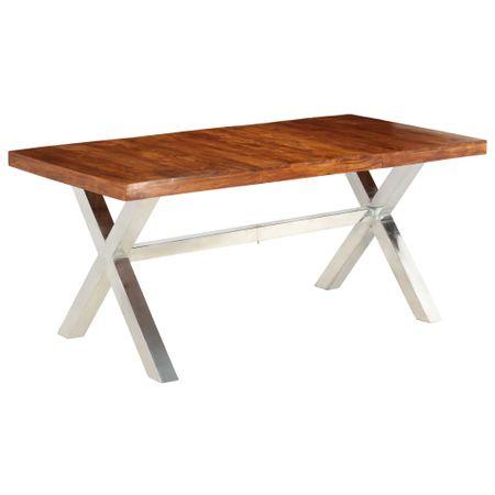 shumee tömör fa étkezőasztal paliszander felülettel 180 x 90 x 76 cm