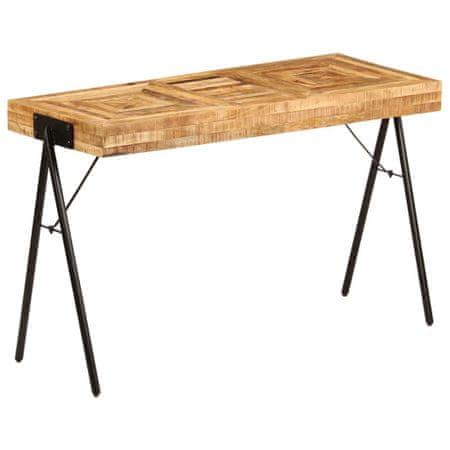 shumee tömör mangófa íróasztal 118 x 50 x 75 cm