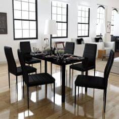 shumee Sedmidílný jídelní set černý