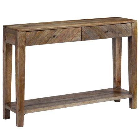 slomart Konzolna mizica iz trdnega mangovega lesa 118x30x80 cm