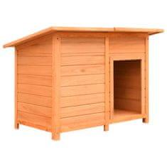 shumee Búda pre psa 120x77x86 cm borovicové a jedľové drevo