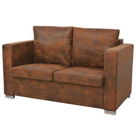 shumee 2-személyes, műbőr kanapé 137 x 73 x 82 cm