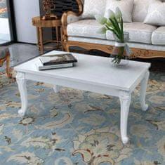 shumee Konferenční stolek 100x60x42 cm vysoký lesk bílý