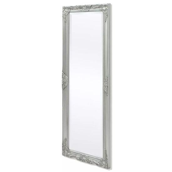 Nástenné zrkadlo v barokovom štýle, 140x50 cm strieborné