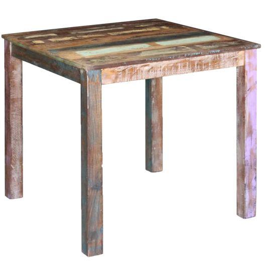 Jedálenský stôl z masívneho recyklovaného dreva, 80x82x76 cm