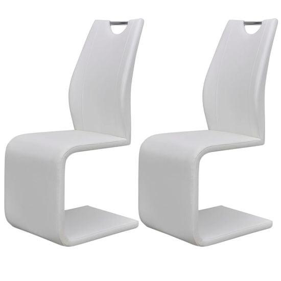 Jídelní židle 2 ks bílé umělá kůže