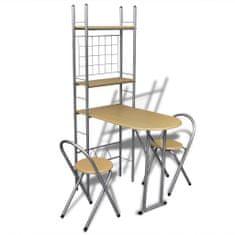 shumee Skládací snídaňový set: barový stolek a 2 židle