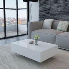shumee Konferenční stolek s vysokým leskem bílý