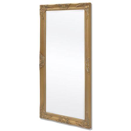 shumee Viseče Ogledalo Baročni Stil 120x60 cm Zlate Barve
