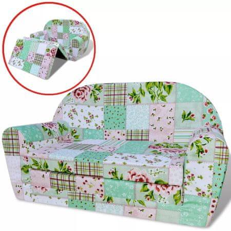 Sofa amerykanka dziecięca w kwiaty