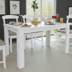 shumee Jídelní stůl 140x80x75 cm bílý