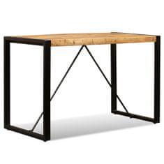 shumee Jídelní stůl masivní mangovníkové dřevo 120 cm