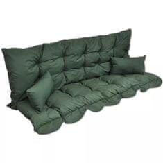 shumee 4-częściowy zestaw poduszek na huśtawkę, zielony, tkanina