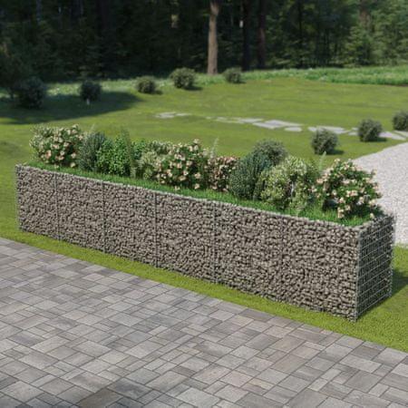 slomart Visoka greda gabion pocinkano jeklo 540x90x100 cm
