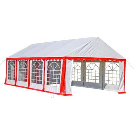 Namiot imprezowy 4 x 8 m, czerwony