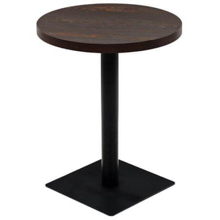 shumee kerek, sötét hamuszínű MDF/acél bisztró asztal 60 x 75 cm