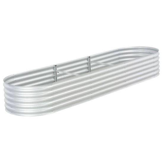 shumee Vyvýšený záhon 320 x 80 x 44 cm pozinkovaná ocel stříbrný