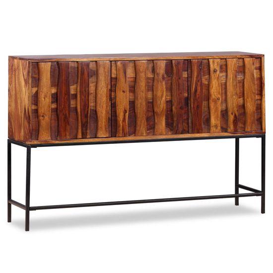 Komoda z masívneho sheesamového dreva, 120x30x80 cm