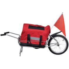 Nákladní vozík za kolo jednostopý s úložným vakem