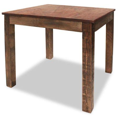 shumee tömör újrahasznosított fa étkezőasztal 82 x 80 x 76 cm