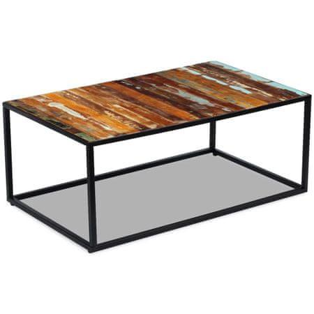 shumee tömör újrahasznosított fa dohányzóasztal 100 x 60 x 40 cm