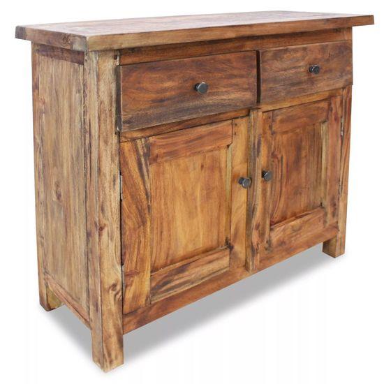 Kredenc z pevného recyklovaného dreva, 75x30x65 cm