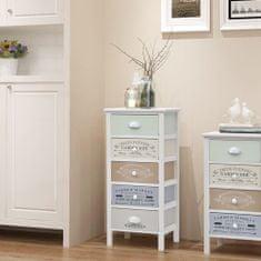 Vidaxl Úložná skříňka ve francouzském stylu s 5 zásuvkami dřevěná