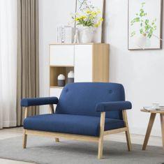 shumee 2 személyes kék szövet kanapé