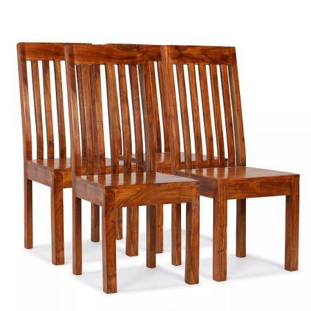 shumee Jedilni stoli 4 kosi trden les in palisander moderne oblike