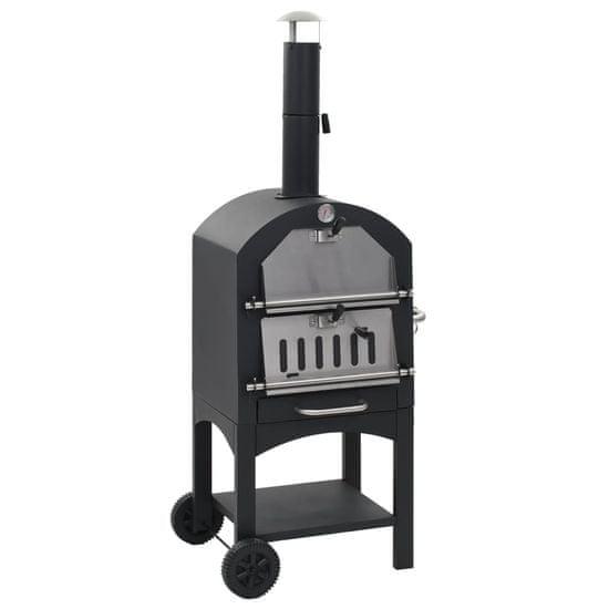 shumee Venkovní pec na pizzu na dřevěné uhlí s kamenem