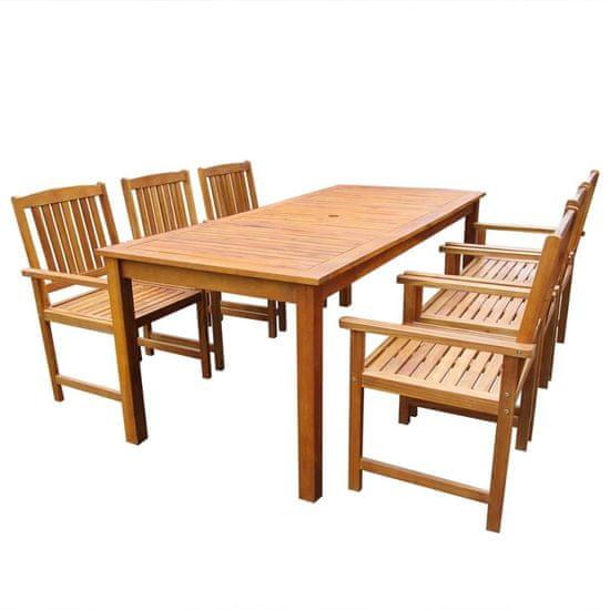 Vidaxl 7dílný zahradní jídelní set masivní akáciové dřevo