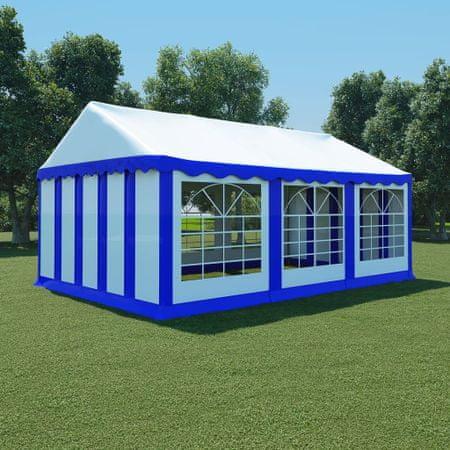 shumee Vrtni šotor PVC 4x6 m modre in bele barve